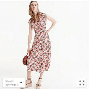 J.Crew Mercantile floral wrap dress